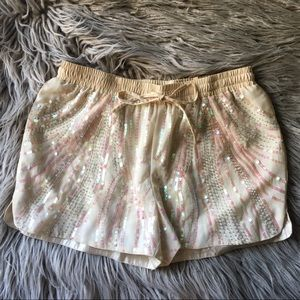 Ark & Co Sequin Sparkle Silky Shorts Drawstring